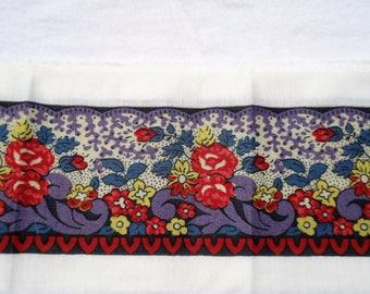 PIERRE DEUX French Country Provence Fabric Border Souleiado Designer Piece  Purple Lavender Beautiful
