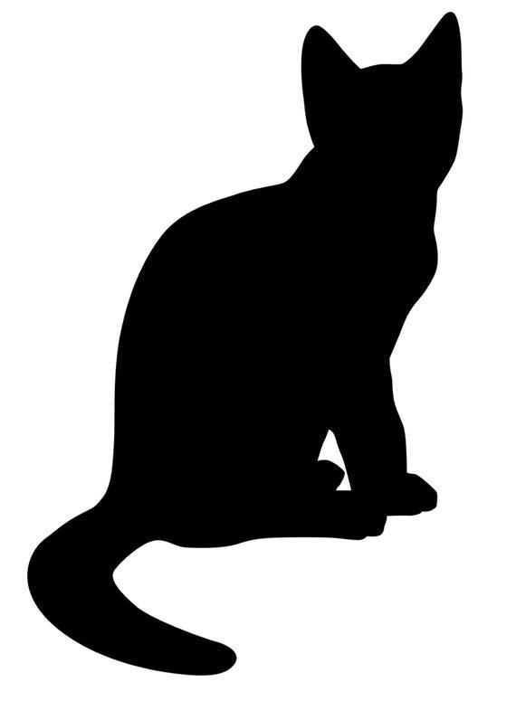 Slate wall sticker: cat silhouette pattern | Etsy