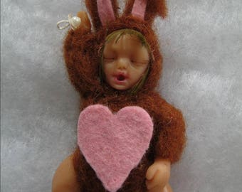 Lynah, polymer clay, cernit, miniature baby