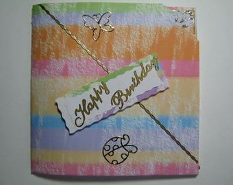 Carte anniversaire arc en ciel