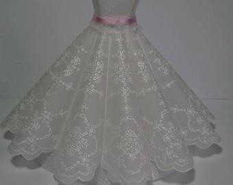 Paper lace dress