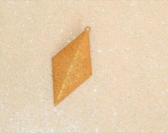 length 40mm glitter gold diamond-shaped sequin/charm
