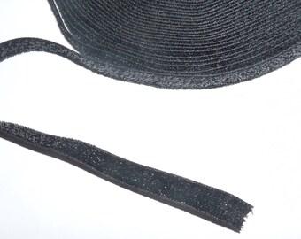 Ribbon 10mm black glitter the meter
