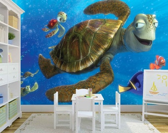 Finding Nemo Dory Wall Mural Woven Fabric Self Adhesive Art Decal Graphic Wallpaper Stickers Bedroom Decor NOT VINYL Disney M88