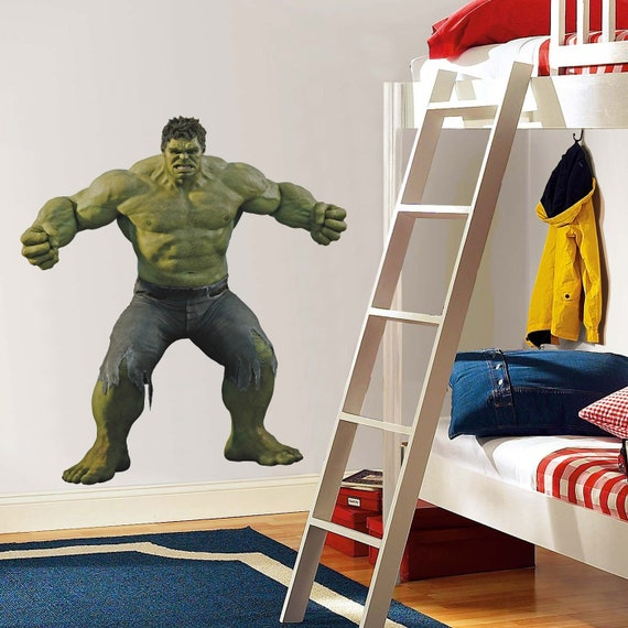 Hulk Rage Wall Sticker Decal Graphic Bedroom Decor Mural Art | Etsy
