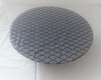 Navy Charlotte Bowl pattern Japanese blue waves