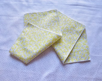 pale green set of 2 floral handkerchiefs