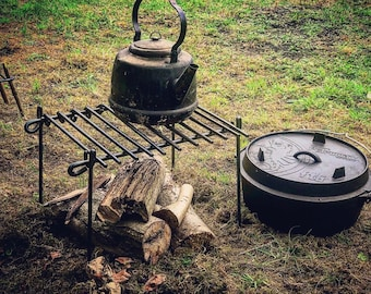 Traditional Cowboy Grill.                   Grill / Grills / Bushcraft / Camping / BBQ / Bushcraft Gear / Camping Gear / Cooking Equipment