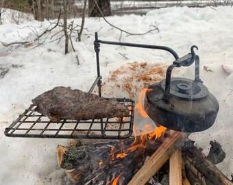 The Original Mini Grill Fire Anchor.               Swing Arm / Bushcraft / Camping / BBQ / Bushcraft Gear / Camping Gear / Cooking Equipment