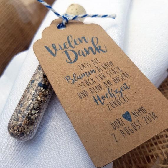 Gastgeschenk Hochzeit Blumensamen Reagenzglas Denk Etsy