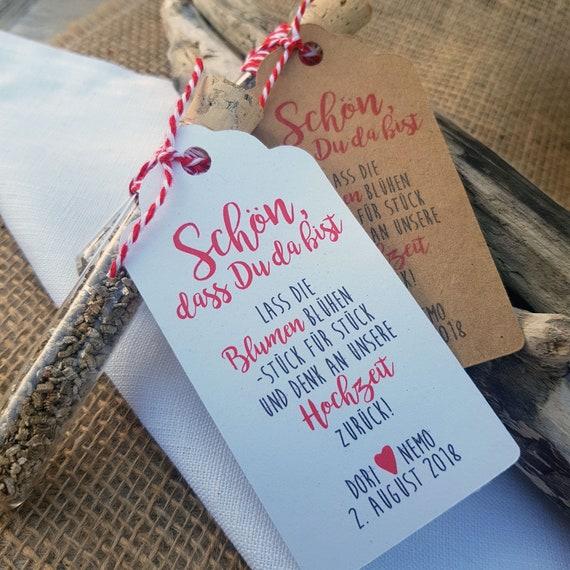 Gastgeschenk Hochzeit Blumensamen Kraftpapier Reagenzglas Etsy