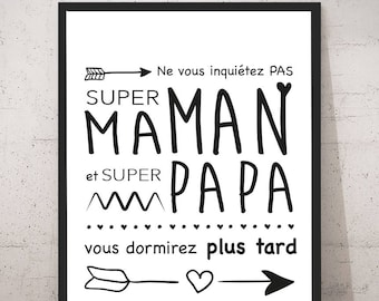 Poster/print - Great and super dad