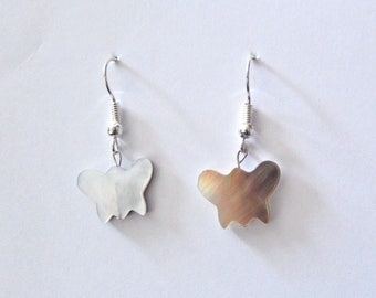 Earrings butterflies with mother of Pearl