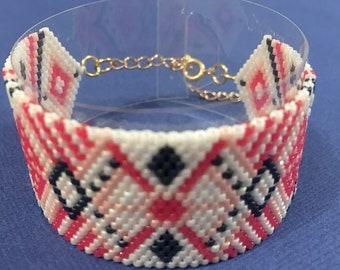 Beadwoven Cuff Bracelet