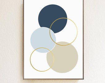 Geometric Circle Shapes Digital Download | Home Decor | Wall Art | Kid's Rooms