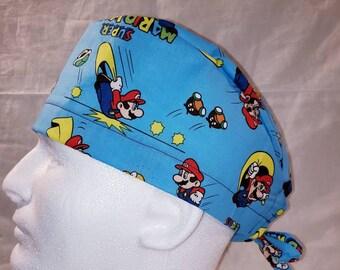 bdcb448751b13 Men s Scrub Cap Super Mario Brothers
