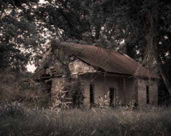Haunted Abandoned House - Woods / Forest Poster (Download)