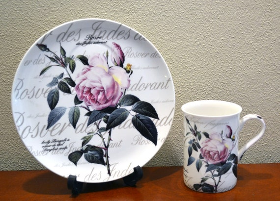 Creative Rose Flower Coffee Cup Chinese Ceramic Tea and