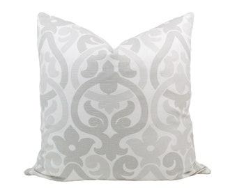 """White & Grey Otomi Pillow Cover, 20x20"""""""