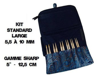 "Kit standard ""large"" by 5 ""sharp: HiyaHiya interchangeable circular needles"