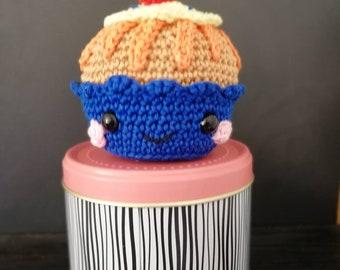 Cupcakes raspberry amigurumi pin cushion