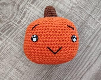 Little Pumpkin Halloween rattle, decoration, amigurumi, soft, rattle, gift, birth gifts