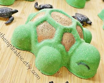 Turtle Bath Bomb With Surprise Toy Inside   Bath Bombs For Kids   Surprise Toy Bath Bombs