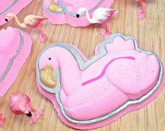 NEW! Flamingo Bath Bomb (1) With Surprise Toy Inside