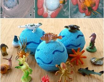 Under The Sea Bath Bomb | Sea Creature Toy Bath Bomb | Toy Inside Fizzy | Children's Bath Bomb