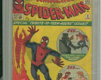 Amazing Spider-Man #8 CGC 4.0 Steve Ditko Cover & Art 1964