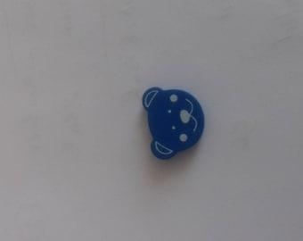 Wooden bear head bead