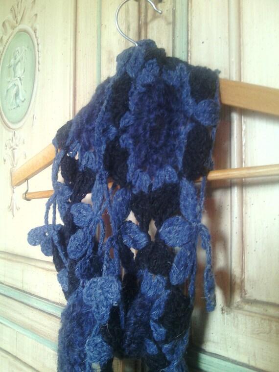 Handgefertigte Wolle Schal häkeln Oma quadratische Frau | Etsy
