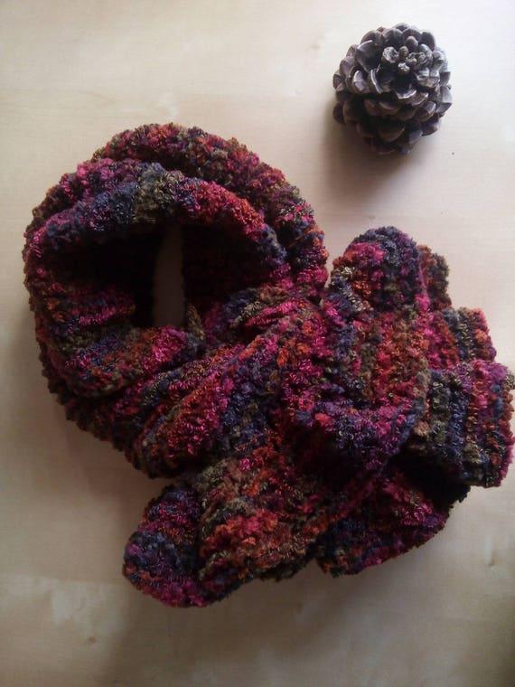 kurze Velvet Chenille Schal häkeln Rüschen Schal gestrickt in