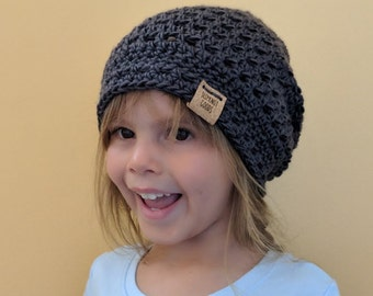 db1103cfffd483 Mommy and Me, Slouchy Beanies, Crochet Beanies, Crochet Caps, Crochet Hats,  Cade Caps, Gray Beanie, Mommy Gift