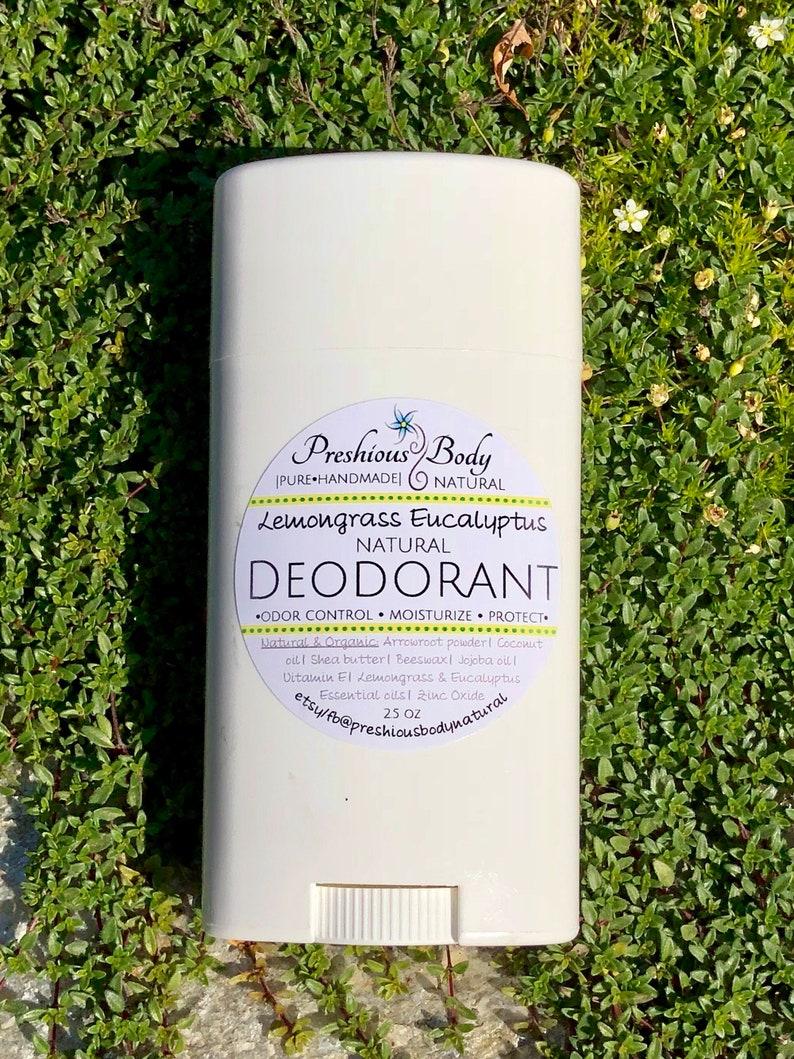 Baking Soda Free~ Lemongrass Eucalyptus~ All Natural Deodorant with  Magnesium Hydroxide!
