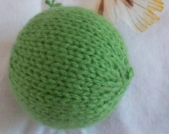 Lime green cat ball