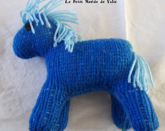 Royal Blue horse mane sky blue