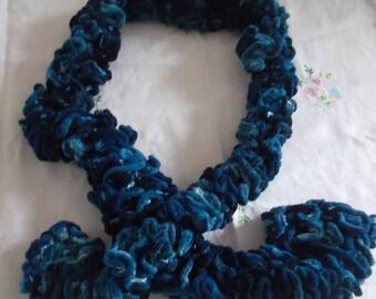 Blue Velvet scarf
