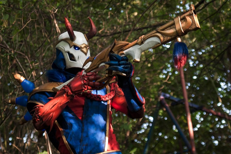 Bloodmoon Jhin Cosplay League Of Legends Only Weapons Etsy