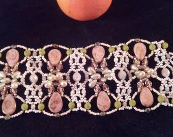 Con pietre di diversi colori Cuff Bracelet