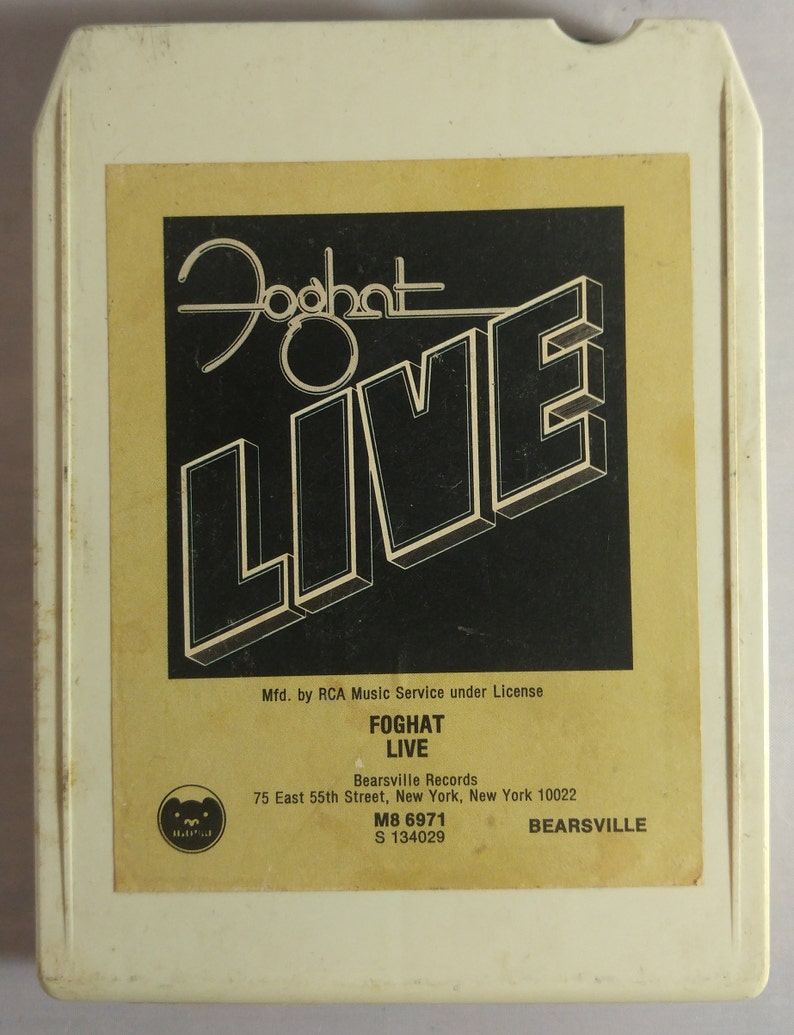 Foghat Live 8 Track Tape Cartridge