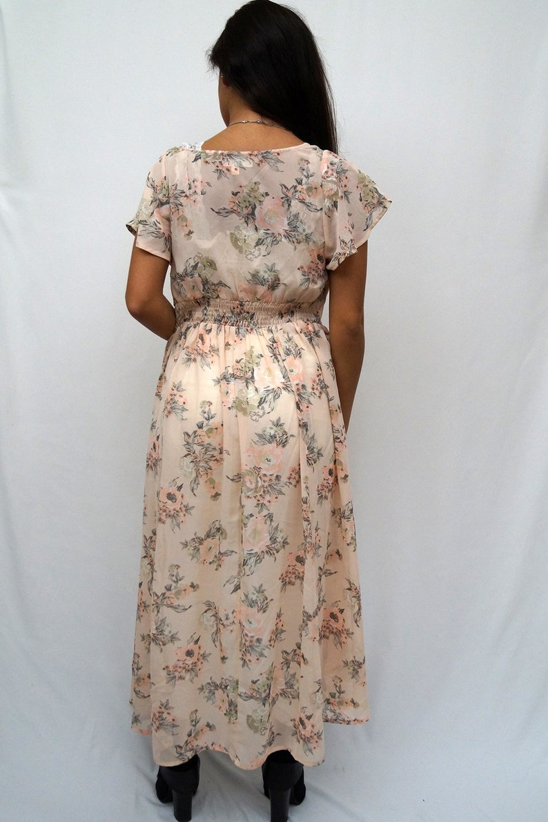 LIVE4TRUTH Blush Floral Print Short Sleeve Duster Cardigan