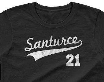 Womens Puerto Rico Shirt Santurce 21 Shirt Puerto Rico Baseball Shirt  Roberto Clemente Shirt Santurce Womens Shirt La Placita Shirt 755ff28f3c