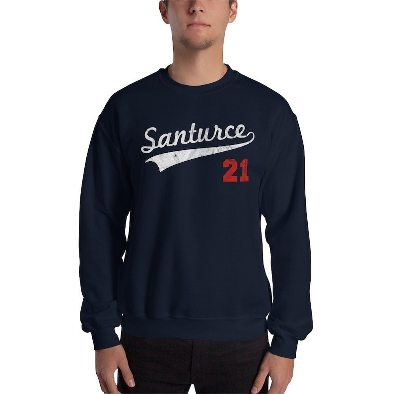 factory authentic ee53a 2b714 Santurce 21 Distressed Sweatshirt - Puerto Rico Sweatshirt - Santurce 21  Sweatshirt - Puerto Rico Baseball Sweater Roberto Clemente Santurce