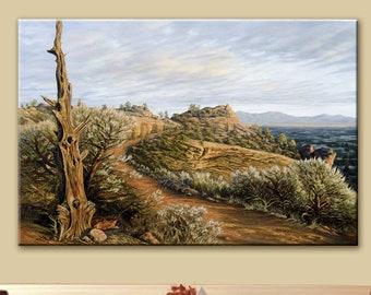 Smith Rock | Desert Landscape | Rock Climbing | Rock Art | Wall Art | Giclee Print | Canvas Print | Oregon | Wall Decor | Landscape Art