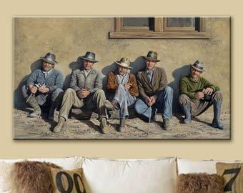 Canvas Print | Art Print | Giclee Print | Jeff Bridges | George Clooney | James Bond | Indiana Jones | Kevin Costner | The Dude | Fedora