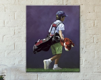 Kids Room Decor | Wall Decor | Golf Painting | Giclee Print | Art Print | Golf Painting | Canvas Print | Kids room art |Made in USA