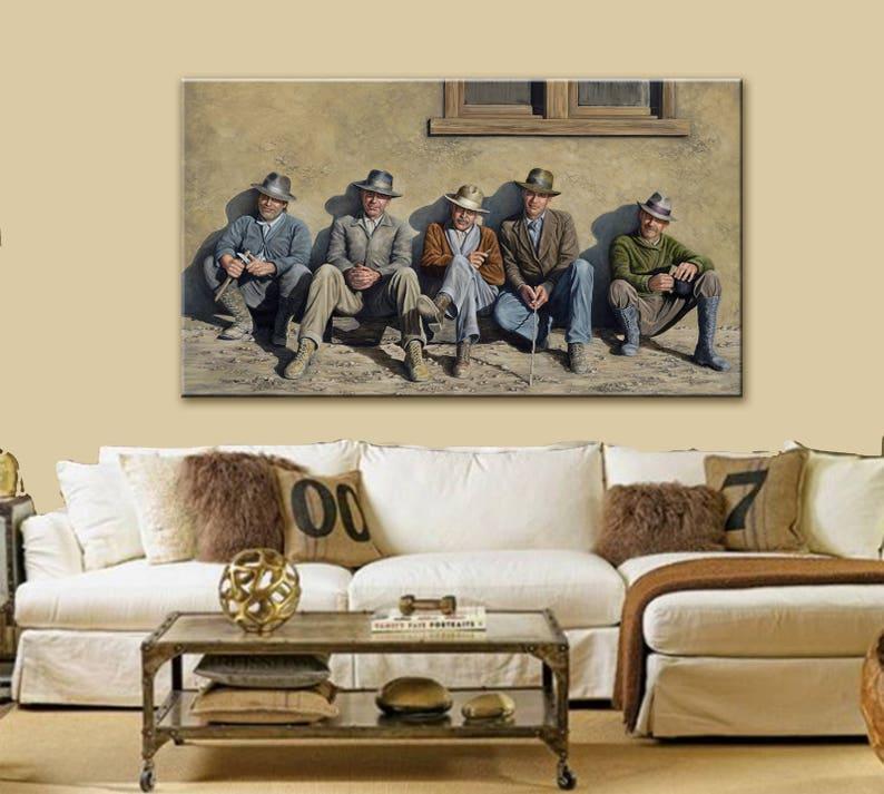Canvas Print  Art Print  Giclee Print  Jeff Bridges  image 0