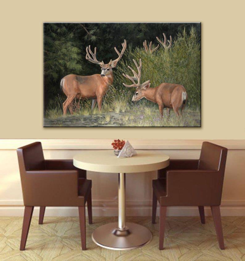 Velvet  Antlers  Trophy Buck  Deer Print  Wall Art  Buck image 0