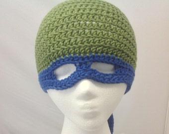 Leonardo Teenage Mutant Ninja Turtle Hat Youth to Young Adult